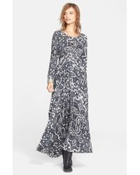 Free People - Gray 'First Kiss' Maxi Dress - Lyst