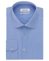 Calvin Klein - Afternoon Sky Blue Check Dress Shirt for Men - Lyst
