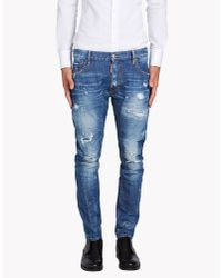 DSquared² | Blue Tidy Biker Jeans for Men | Lyst