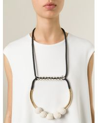 Marni | Black Round Pendant Necklace | Lyst