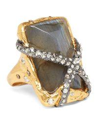 Alexis Bittar - Metallic Rocky Labradorite Solitaire Ring - Lyst