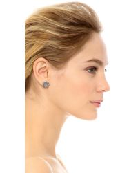 House of Harlow 1960 | Metallic Tholos Mosaic Stud Earrings - Silver | Lyst