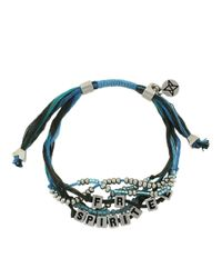 BCBGeneration - Blue Free Spirit Threaded Bead Bracelet - Lyst