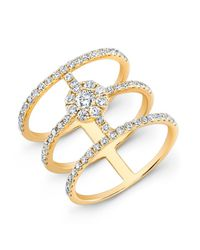 Anne Sisteron | 18kt Yellow Gold Diamond Fleur Ring | Lyst