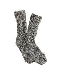 J.Crew | Black Marled Socks for Men | Lyst