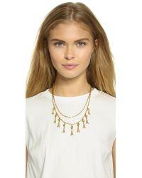 Vanessa Mooney - Metallic The Holloway Necklace - Gold - Lyst