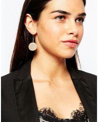 ASOS - Metallic Smooth Disc Earrings - Lyst