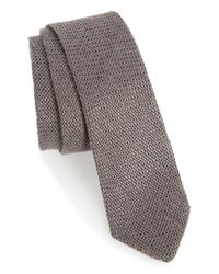 Alexander Olch - Gray Knit Linen Tie for Men - Lyst