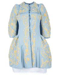 Meadham Kirchhoff - Blue Madonna Ottoman Dress Coat - Lyst