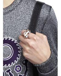 Noir Jewelry - Metallic X Dc Comics Superman Rhodium Plated Ring - Lyst