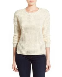 Sam Edelman | Natural 'ashlee' Chunky Knit High/low Sweater | Lyst