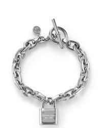 Michael Kors | Metallic Padlock Toggle Bracelet | Lyst