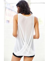Silence + Noise | White Silence + Noise Twist-Front Tank Top | Lyst