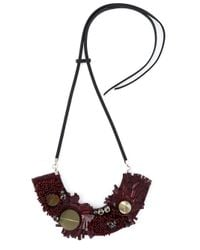 Marni | Red Horn Sequin Necklace | Lyst