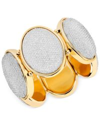Macy's - White Haskell Crystal Oval Stretch Bracelet - Lyst