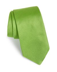 Ted Baker - Green Solid Silk Tie for Men - Lyst