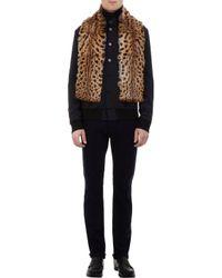 Albertus Swanepoel - Brown Leopardprint Fur Scarf for Men - Lyst