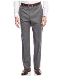 Andrew Marc - Gray Marc New York By Medium Grey Striped Slim-fit Suit for Men - Lyst