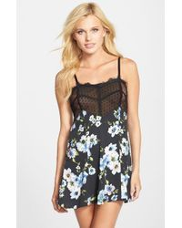 Band Of Gypsies - Black Lace Trim Chemise - Lyst