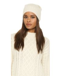 Hat Attack - White Cashmere Slouchy / Cuff Hat - Lyst
