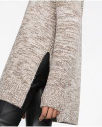Zara | Gray Long Sweater | Lyst