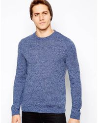 ASOS | Blue Twisted Yarn Sweater for Men | Lyst