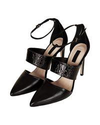 TOPSHOP - Black Gelato Pointed Skinny Shoes - Lyst