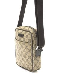 Gucci - Natural Gg Coated Canvas Shoulder Bag for Men - Lyst