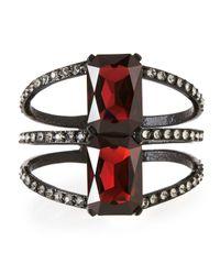 Oscar de la Renta - Black Large Octagon Crystal Bracelet - Lyst