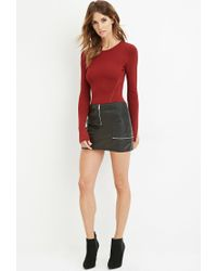 Forever 21 | Red Contemporary Ribbed Crop Top | Lyst