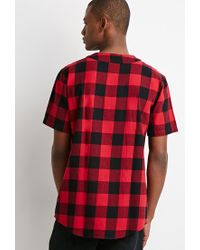 Forever 21 - Red Buffalo Plaid Baseball Shirt for Men - Lyst
