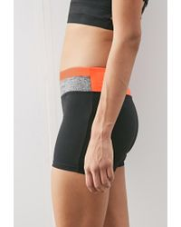 Forever 21 - Black Colorblock Yoga Shorts - Lyst