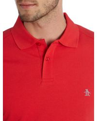 Original Penguin | Red Daddy Slim Fit Polo Shirt for Men | Lyst