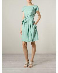 Carven - Green Wrap Tie Dress - Lyst