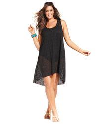 Gottex | Black Plus Size Lace High-Low Dress Cover Up | Lyst