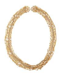 Stephen Dweck - Metallic Seven-strand Crystal & Bronze Necklace - Lyst