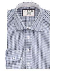 Thomas Pink | Blue Zetland Dot Slim Fit Buttom Cuff Shirt for Men | Lyst