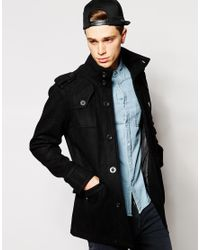 Fly 53 | Black Wool Coat for Men | Lyst
