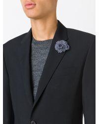 Lanvin - Blue Flower Pin for Men - Lyst