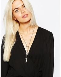 Monki - Metallic Fine Chain Necklace - Lyst