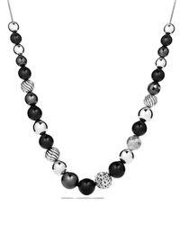David Yurman - Metallic Dy Elements Necklace With Black Onyx & Hematine - Lyst