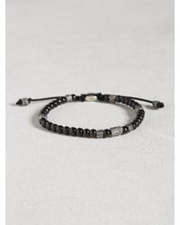 John Varvatos | African Glass Beaded Bracelet In Black for Men | Lyst