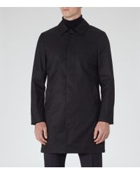 Reiss | Blue Grafton Concealed Placket Mac for Men | Lyst