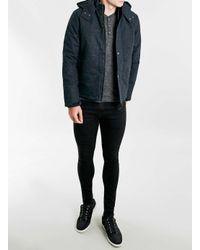 TOPMAN - Blue Rvlt Navy Short Down Jacket for Men - Lyst