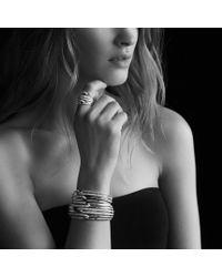 David Yurman - Metallic Labyrinth Tripleloop Ring with Diamonds - Lyst