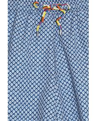 120% Lino - Blue Boxer Swim Shorts for Men - Lyst