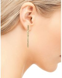 Sam Edelman | Metallic Linear Front And Back Bar Earrings | Lyst