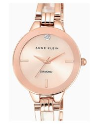 Anne Klein Metallic Diamond Marker Bangle Watch