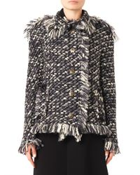 Lanvin - Gray Textured-tweed Jacket - Lyst