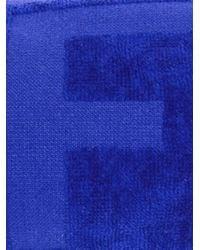 Fendi - Blue Ff Debossed Beach Towel for Men - Lyst